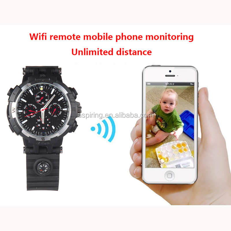 Mini 8GB/16GB/32GB Wifi DVR HD 720P Spy Hidden Watch Camera Night Vision wrist watch security camera