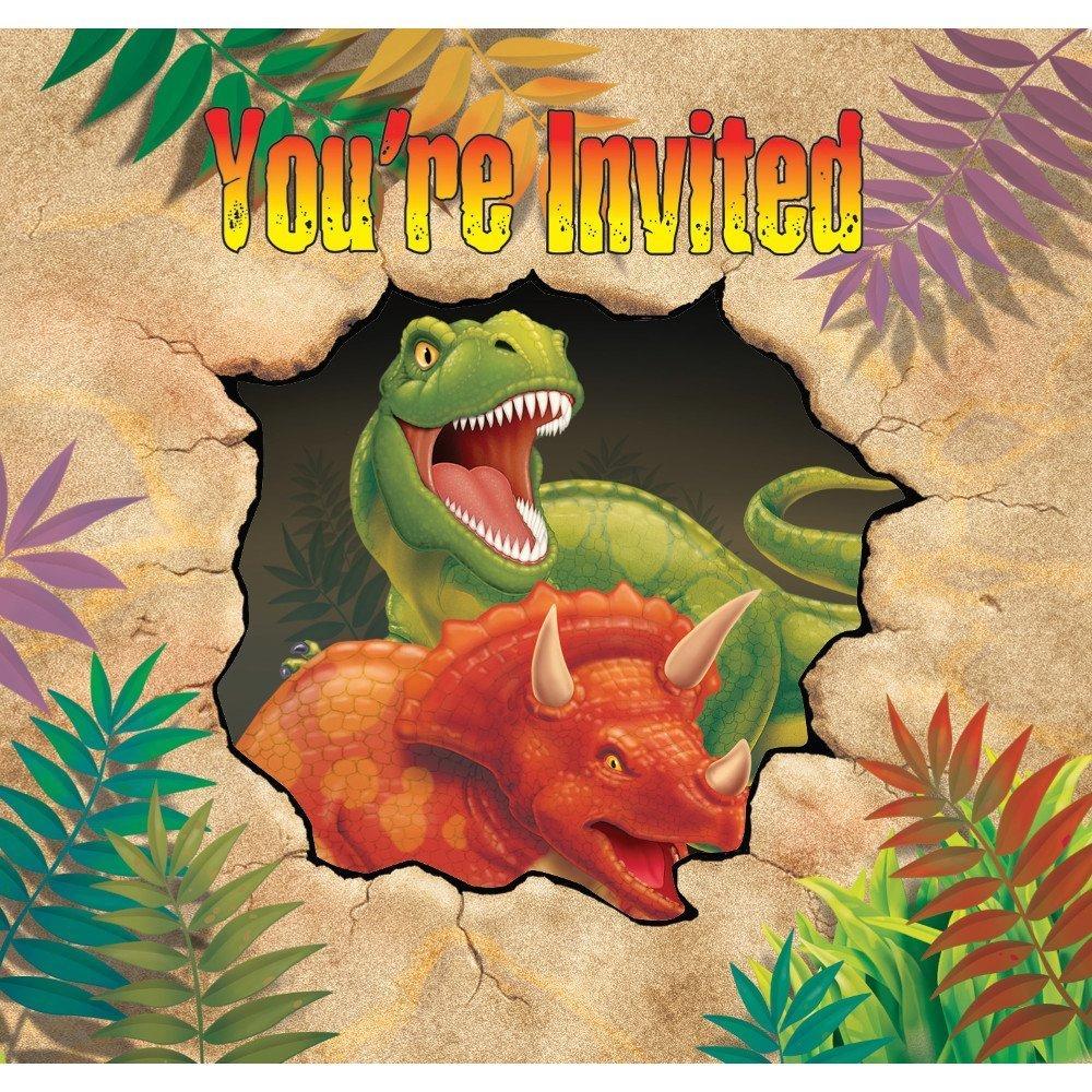 Creative Converting Dino Blast 24 Count Enhanced Party Invitations