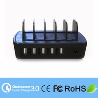 QC 3.0 5 Port 2.4A quick charge mobile phone charging station for iphone charger