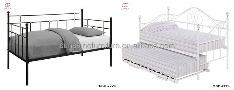 Barato moderno simple metal blanco sof cama con cama nido for Sofa cama nido barato