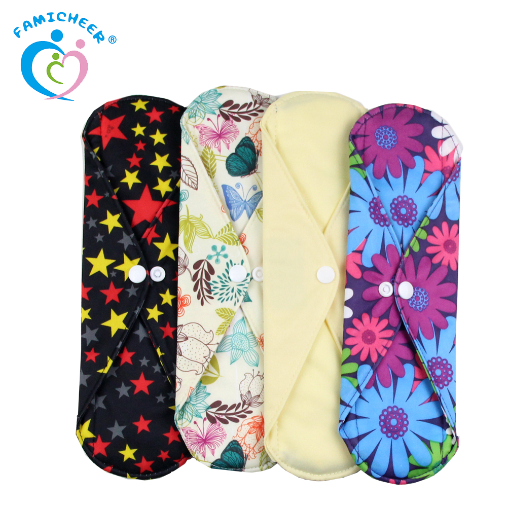 Famicheer Washing Waterproof Cloth Sanitary Pads Overnight Large Size