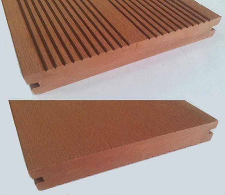 Teak color wood plastic composite decking plastic floor for Plastic wood decks