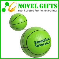 Promotion Basket Ball Shape PU Stress Reliever Ball