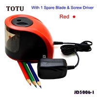 2018 Tech +AUTO STOP Classical Professional Electric Pencil Sharpener / Kids or Art Students / 112 x 78 x 83mm/JD3006-2 Red
