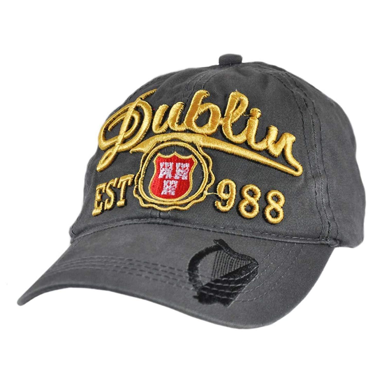 Get Quotations Carrolls Irish Gifts Grey Baseball Cap With Dublin EST 988 And Black Harp Design