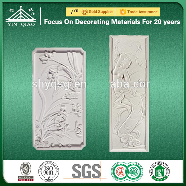 Construction Material Embossed Gypsum 3d Wall Panels