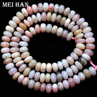 Natural stone 4*6mm rondelle Pink opal, Fashion jewelry and loose gemstones, wholesale beads for DIY design making