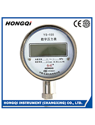 Hongqi high quality glycerine or silicone oil filled pressure gauge for sale