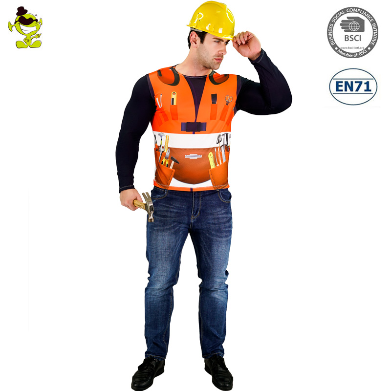 Worker costume construction Adult