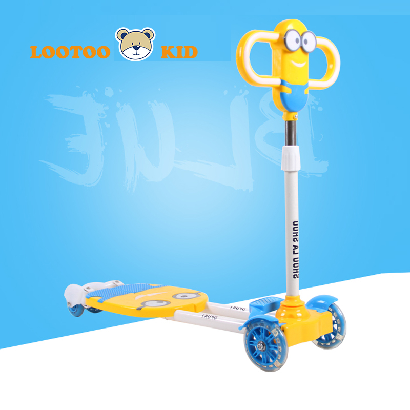 China factory hot selling children two legs four wheel frog scissor scooter