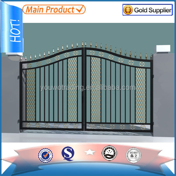 Wrought iron house gate designs main gate colors buy for Indoor gate design