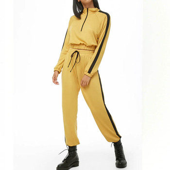 custom tracksuit women winter,women tracksuit set sport jogging wear, plain tracksuit with zip and side striped
