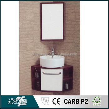 Wall Mounted Corner Bathroom Cabinet Wash Basin Mirror Cabinet