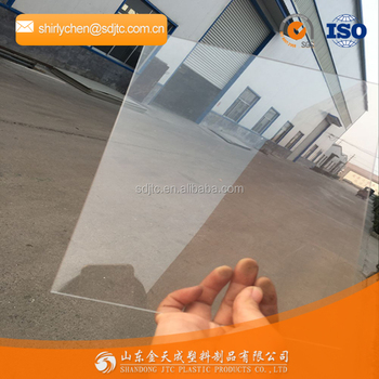 Super clear transparent pvc rigid sheet manufacture