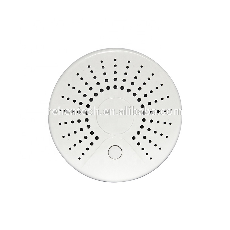 Tuya Battery Operated Smart Life WiFi Remote Control Cigarette Smoke Detector <strong>alarm</strong>