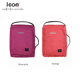 Rose pink 600D cationic polyester fabric women slim laptop backpack laptop bags