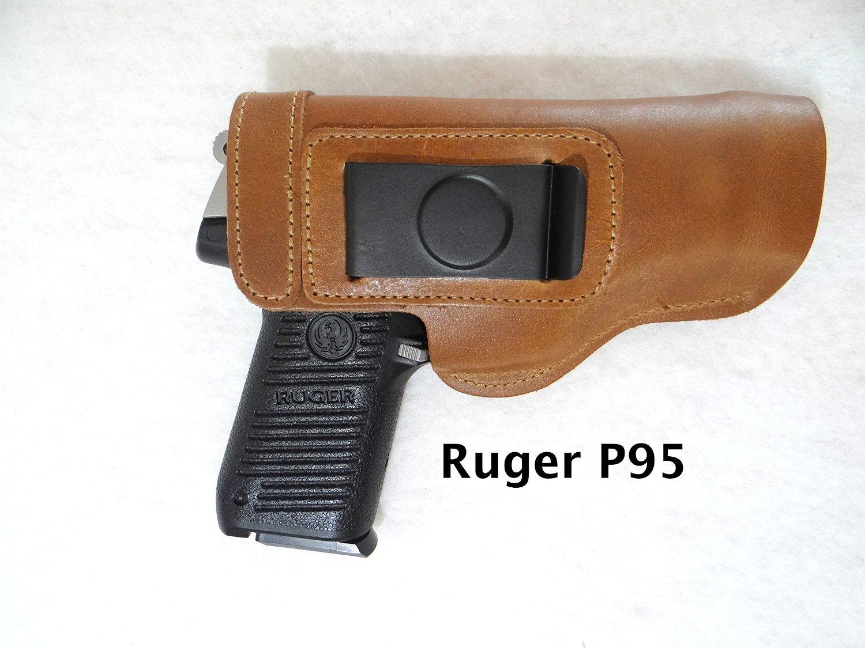 Glock, Springfield XD, Ruger, Beretta, S&W, Taurus CCW IWB Premium Buffalo Leather Gun Holster - RIGHT HANDED