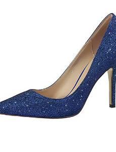 SB- Women's Shoes Glitter Stiletto Heel Heels Pumps/Heels Dress/Casual Black/Blue/Pink/Purple/Red/Silver/Gray/Gold