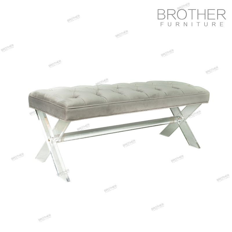 Hot Sale Upholstery Bed End Bench Beautiful Mini Bedroom Sofa Set