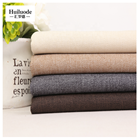 wholesale high quality 100% polyester linen fabric for sofa curtain