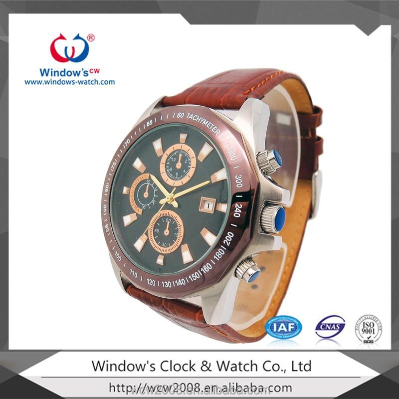 6b2402a1a9652 الصين مصنع تصنيع 2014 الرجال ووتش ووتش جلدية اصلية-ساعات اليد-معرف ...