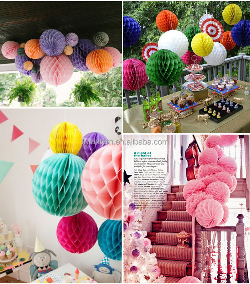 Paper Balls Decoration Fair Birthday Party Decoration Tissue Paper Handmade Honeycomb Ball Review