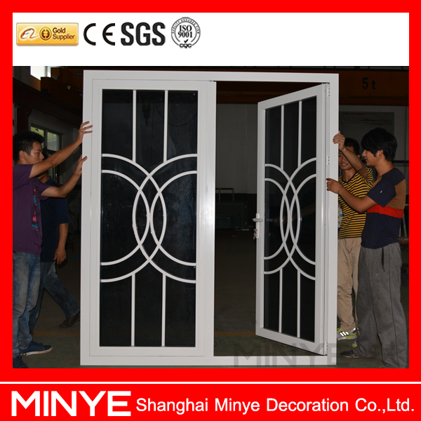 China Suppliers Aluminum Front Double Door Designs With Beautiful ...