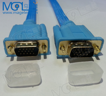 1 8 m 3+6 braided shield male to male flat wiring diagram vga cable for