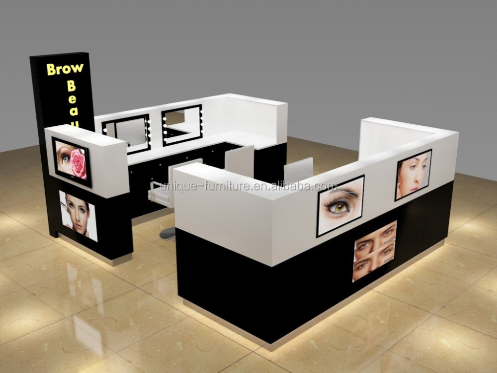 Unique mall eyebrow threading kiosk design for sale