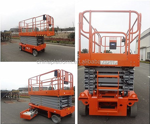 Mobile Hydraulic Battery Powered Motorized Scissor Lifting Platform