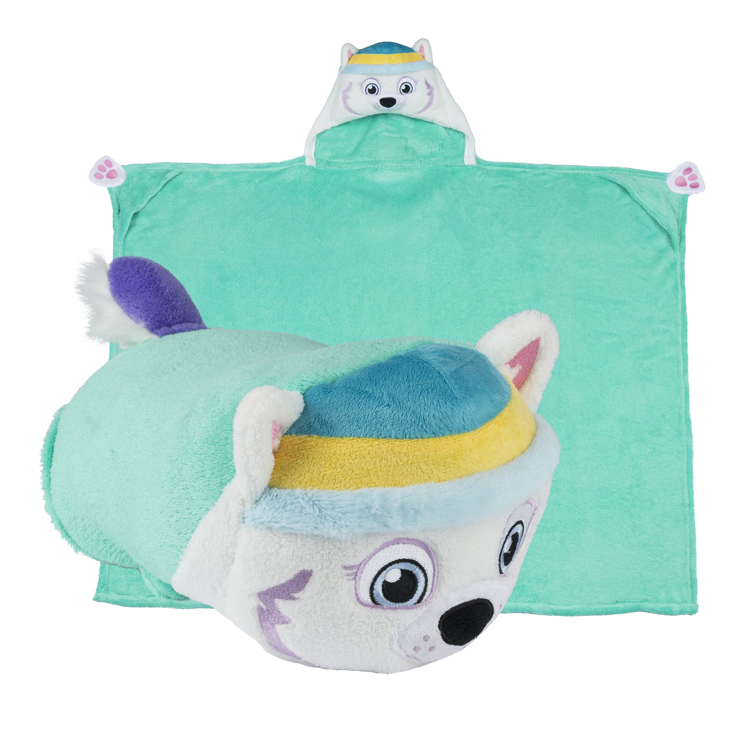 Comfy Critters Stuffed Animal Blanket – PAW Patrol Everest – Kids huggable pillow and blanket perfect for pretend play, travel, nap time.