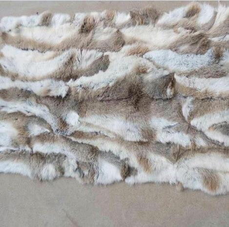 2019 Fashion Patchwork Section Rabbit Fur Plate Rabbit Skin Rug Belly Fur Plate Blanket Blankets Factory Sale Good Quality New Entertainment Memorabilia