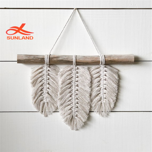 W1612 Macrame Home Decor Feathers Small <strong>Wall</strong> Hanging