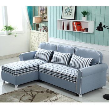 Manufacturer Otobi Furniture Navy Blue Fabric Sofa Cum Bed With Recliner  Parts In Bangladesh For Living