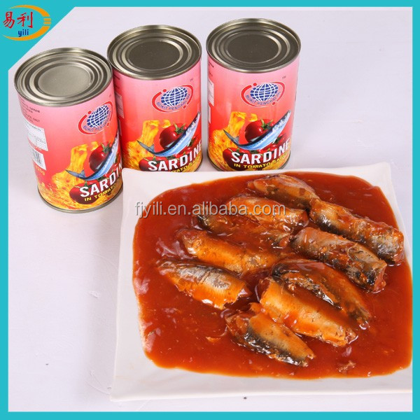Best sell 425g Canned Sardine In Tomato Sauce