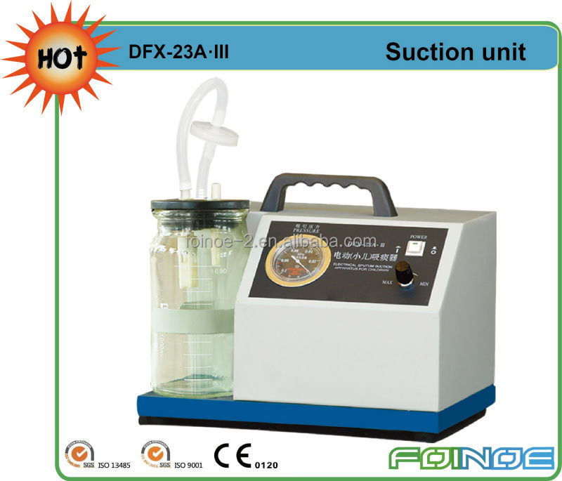 DFX-23A.III HOT selling infant sputum vacuum suction devices