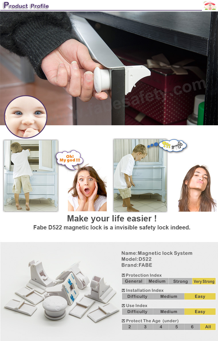 Oem Magnetic Baby Child Kids Safety Lock Magnetic Locking