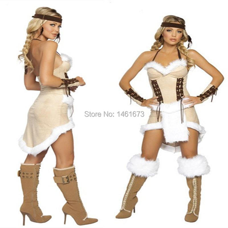 Get Quotations · Free Shipping Cherokee Chief Native Indian Princess Costume Sexy Adult Cosplay Exotic Apparel Halloween Costume for  sc 1 st  Alibaba : indian princess adult costume  - Germanpascual.Com