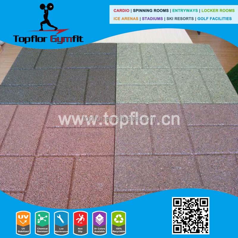 Topflor Playground Elastic Rubber Tiles Flooring Buy Outdoor