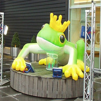 Inflatable Frog With Crown For Event Cartoon Advertising Model Inflatable A247