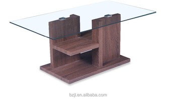 mdf leg tempered glass coffee table tea table wood table xs-3289