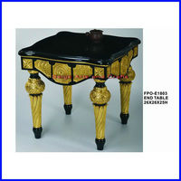 2013 Marble Top Antique Carved Wooden Cheap End Tables E-1803 For European Market