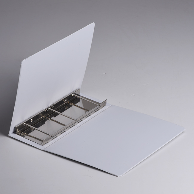 White Vinyl PVC catalog 2/3/4 metal screw post ring binders with clear Pockets