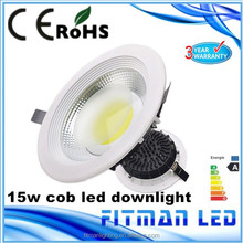 fitman factory hot sale style luna 6 inch dimmable 15w COB LED downlight