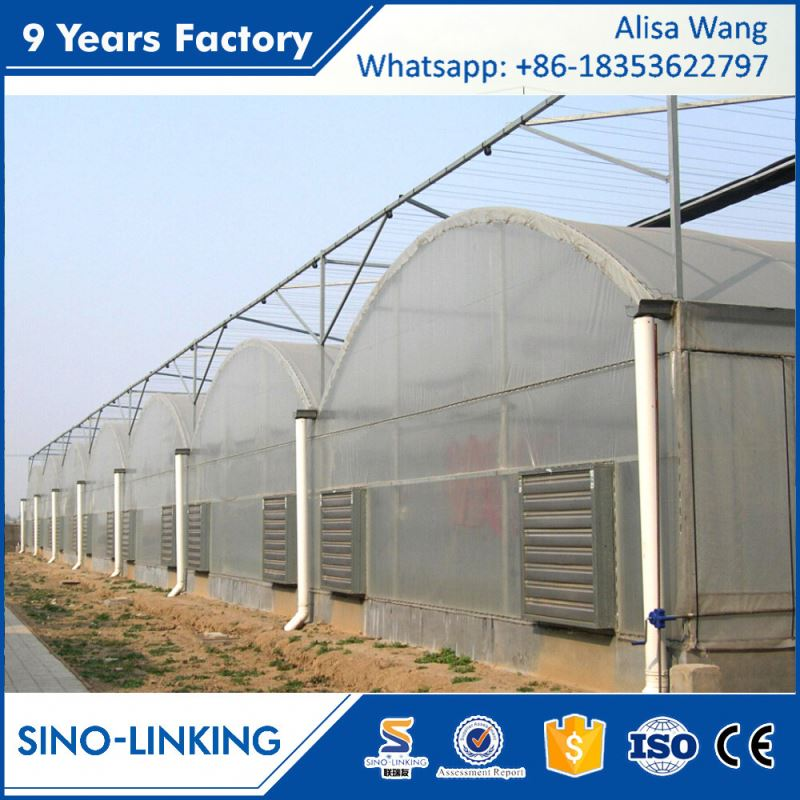 SINOLINK good daylighting Polycarbonate sheet greenhouse plastic clips for agricultural