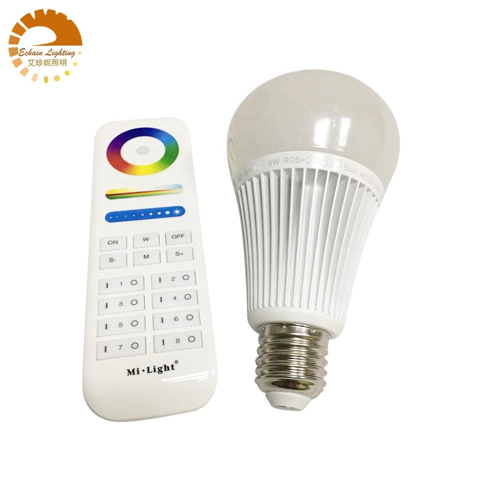 AC100-240V RGB+CCT led bulb with 2.4G 8-ZONE REmote, FUT012, FUT089 MILIGHT