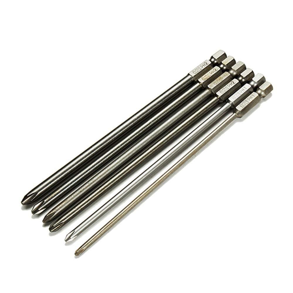Hand Tools Cross Screwdriver bit 6pcs 150mm 3mm-6mm Magnetic Hex Cross Head Screwdriver Bit Set Electric Screwdriver