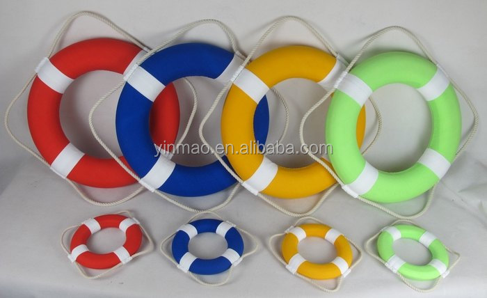 Life saver wall decoration, (50,20cm) classic set 4 color marine Life buoy rings , 2 size life buoy,life preserves hand craft