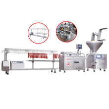 Automatic Electric Stainless steel quantitative kinking/kink sausage stuffer/filler machine production line with linker / link