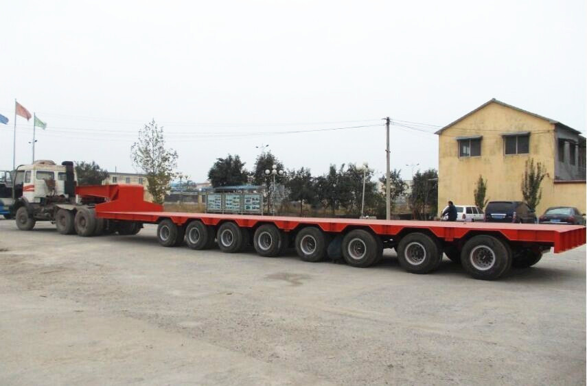 Weight Per Axle Semi Truck : Steering axle long lowbed trailer with units tyre